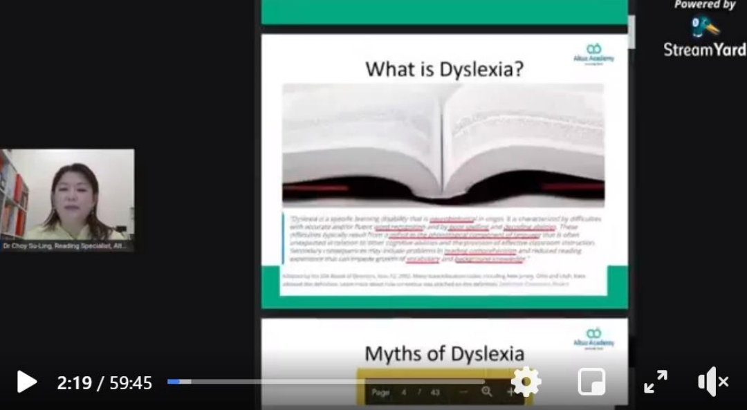 Free Webinar: Dyslexia and Reading Intervention